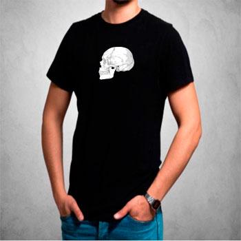 camisetas estampadas hombre, negro