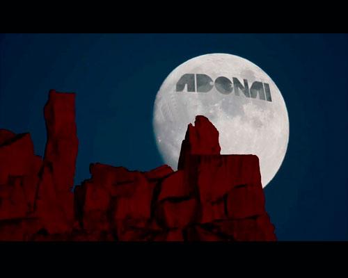 Estampado, luna y logotipo