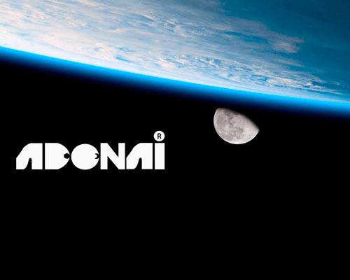 Diseño, tierra, luna y logotipo