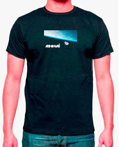 camisetas estampadas hombre, tierra, luna